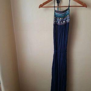 f9a12d10c58 Backless halter dress